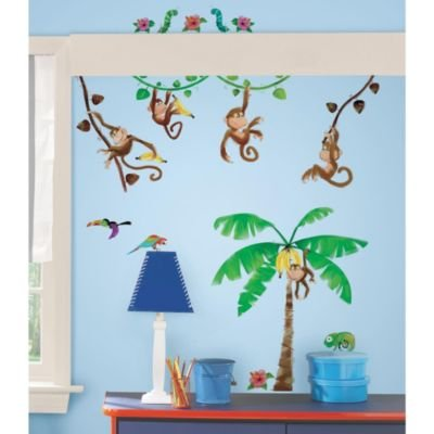 Roomates Monkey Business Peel & Stick Wall Decals - 1