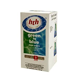 Arch chemical hth 91912 green to blue shock for Garden pool chemicals