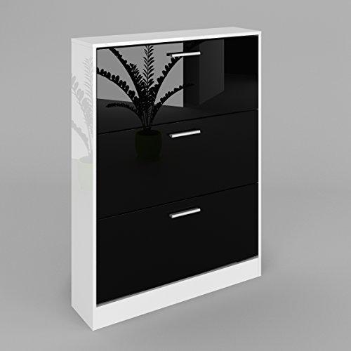 e40bfcc501 Cheap SAINT TROPEZ SHOE CABINET WITH DOOR , COLOUR: BLACK HIGH GLOSS ...