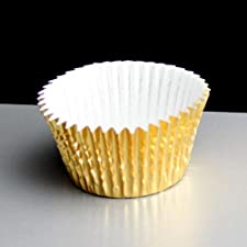De alta calidad dorado moldes para magdalenas (36 unidades)