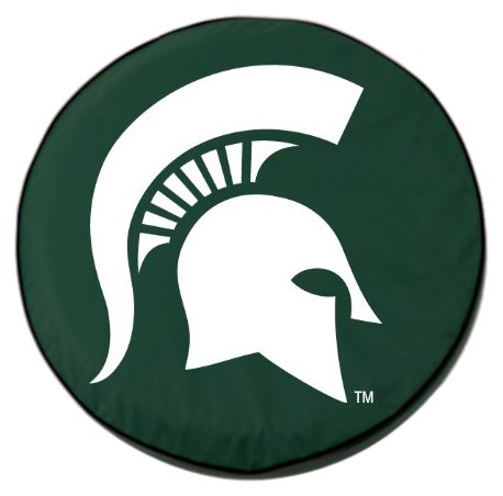 NCAA Michigan State Spartans Tire Cover, Green,Size A