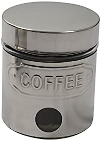 BeauT TEA COFFEE SUGAR STEEL FINISH Jar Set 200 ML, 3PCS