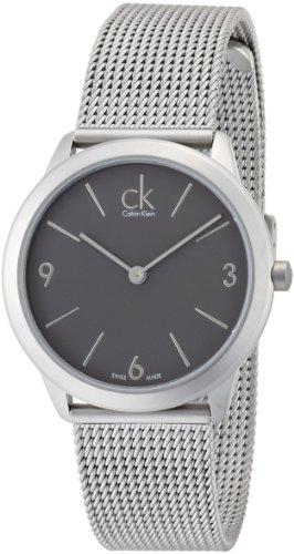 Calvin Klein K3M52154 - Reloj analógico de cuarzo para mujer con correa de acero inoxidable, color plateado