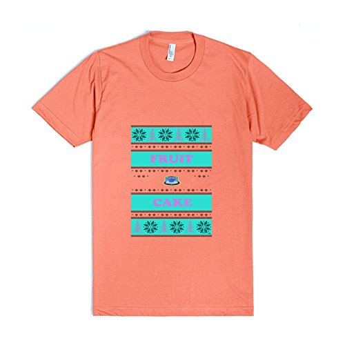 FRUIT CAKE UGLY CHRISTMAS SWEATER Coral T-Shirt