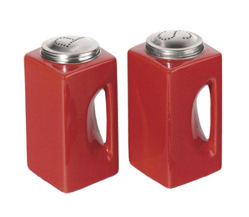 Red with Handles Salt & Pepper Shaker Set