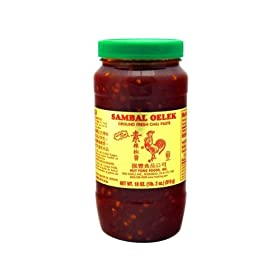 Huy Fong Sambal Oelek Sauce - Fresh Ground Chili Paste, 18 Ounce Bottle