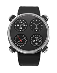 Meccaniche Veloci Men's W124N096371016 Automatic Titanium Black Dial Dual-Time Watch
