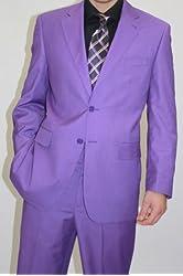 Beautiful Men's Two Button Purple Color 2 Piece Slim Suit