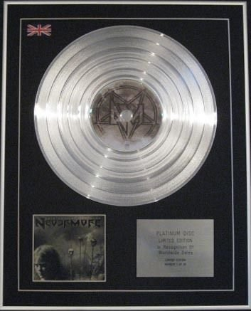 Nevermore - Ltd CD platinum disc- questo empia Endeavor