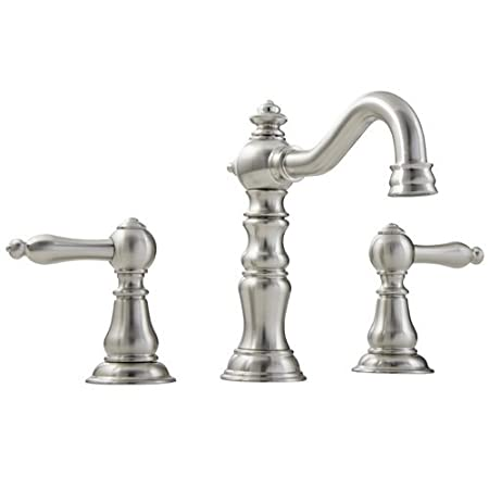 Mirabelle MIRWSSA800BN Brushed Nickel St. Augustine Widespread Bathroom Faucet - Includes Pop-Up Drain Assembly