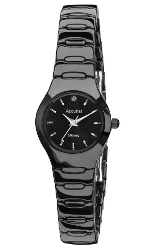 Accurist Ladies Black Ceramic Case and Bracelet Watch LB1670B