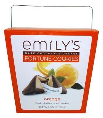 Dark Chocolate Orange Fortune Cookies 3.5oz