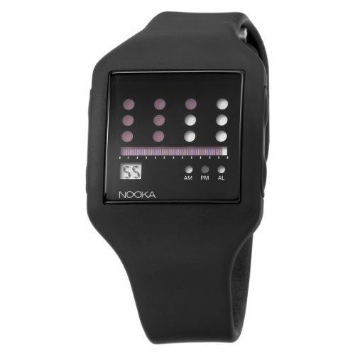 Nooka Unisex ZUB-ZOT-BK-20 Zub Zot Black Polyurethane Watch