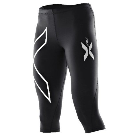 2XU Womens Thermal 3/4 Compression Tights Black/Black ST