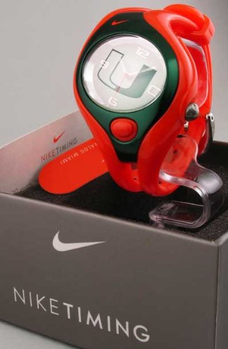 MENS WOMENS NIKE SPORTS RESIN NCAA MIAMI TRIAX SWIFT INDIGLO DATE WATCH WD0019-803
