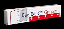 50 Super Sticky, Heavy Duty Bag-Edge Gripper Strips for Holding Items in Ringed, Organizational Binders