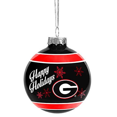 Georgia Bulldogs Official NCAA Holiday Christmas Ornament Glass Ball by Forever Collectibles 466826 (Georgia State University Decal compare prices)