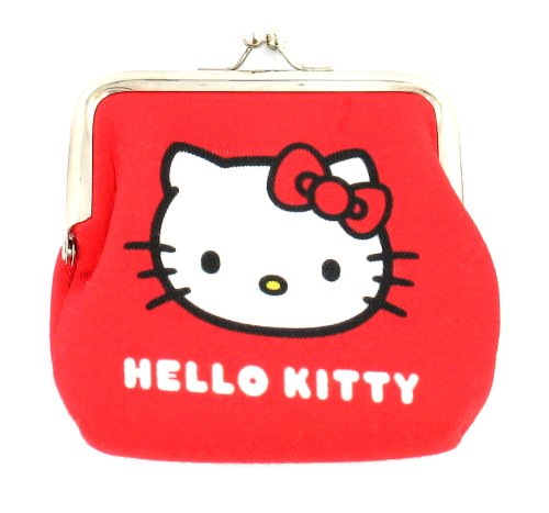 Girls Hello Kitty Clip Top Purse. - Red - UK 1-1