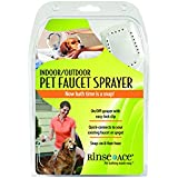 Rinse Ace Indoor and Outdoor Pet Shower Sprayer with 8 foot Hose and Faucet or Spigot Attachment