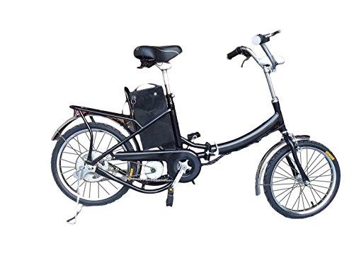 Fitness House Fh 01 Bicicletta elettrica a pedalata assistita, pieghevole,  250 W, Nero