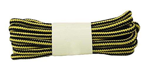 2-Paires-Lacets-ronde-Lacets-4724-pouces-Jaune-Noir