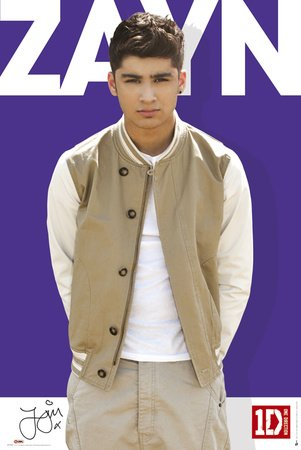 One Direction Zayn Malik Purple Music Poster