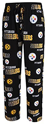 Pittsburgh Steelers NFL with Logo Scatter Pattern Men's Pajama Pants