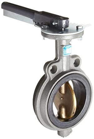 Milwaukee Valve CW223E Series Cast Iron Butterfly Valve, Wafer Style, Aluminum/Bronze Disc, EPDM Seat, Lever Handle, Flanged