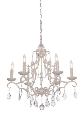 B0083UHOA8 Artcraft Lighting CL1576AW Vintage Six-Light Chandelier, Antique White