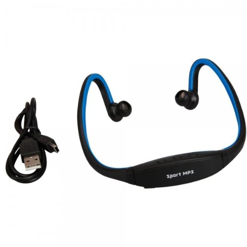 Fast Shipping + Free Tracking Number, Blue Sport Wireless Headset Headphone Mp3 Player Tf Card Reader Media
