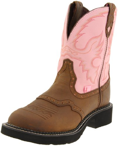 Justin Boots Women's Gypsy-L9901 Boot,Brown/Pink,8.5 B US