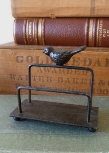 Eva- Wrought Iron Bird Business Card Holder