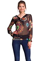 Desigual Better - Blouse - Taille normale - Manches longues - Femme