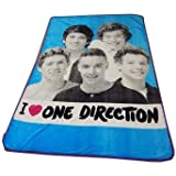 "One Direction Twin / Full Size Plush Blanket - ""I Love 1D"""