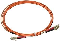 3m LC-LC 62.5/125 OM1 Duplex Multimode Fiber Optic Cable - Plenum CMP-Rated - Orange