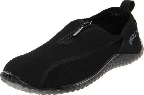 Speedo Women'S Zipwalker Water Shoe,Black/Black,8 M front-992936