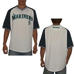 MLB Seattle Mariners Mens PRO QUALITY Athletic Dri Fit Baseball Shirt by MLB