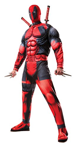 Rubie's Men's Marvel Universe Classic Muscle Chest Deadpool Costume, Multi-Colored, X-Large