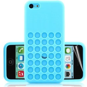gf tec coque en gel silicone souple housse bleu pour iphone 5c. Black Bedroom Furniture Sets. Home Design Ideas