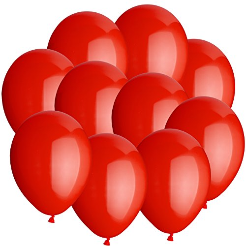 100x jahrmarktballons 15cm rundballons luftballons rot high quality premiumline. Black Bedroom Furniture Sets. Home Design Ideas