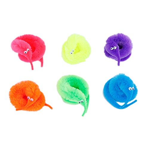 NUOLUX-6pcs-Magic-Worm-Toys-Wiggly-Twisty-Fuzzy-Carnival-Party-FavorsRandom-Color