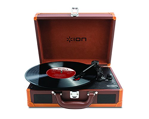 Review ION Audio Vinyl Motion - Deluxe 3-Speed Belt Drive Suitcase Turntable with Built-In Speakers ...