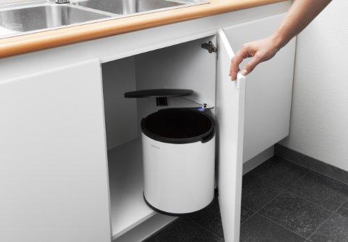 Brabantia 262180 cubo de la basura para fijar a puerta - Cubo basura puerta ...