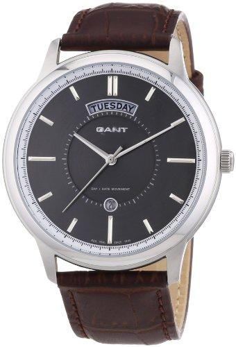 Gant W10931 - Reloj para hombres, correa de cuero color marrón