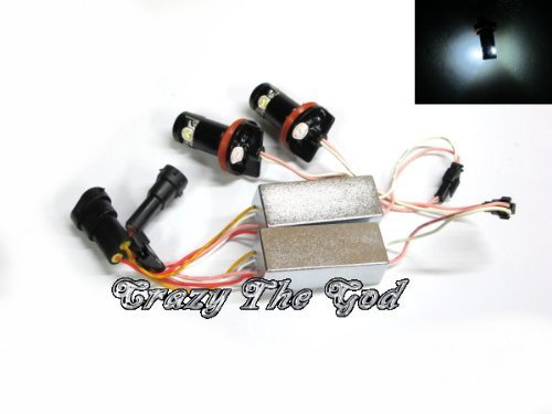 Crazythegod E70 E71 X5 X6 E63 E64 E89 Z4 Led Angel Eye Marker H8 6W Xenon White Bmw