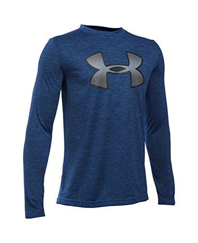Under Armour Boys' Novelty Big Logo Long Sleeve, Ultra Blue (907), Youth X-Large