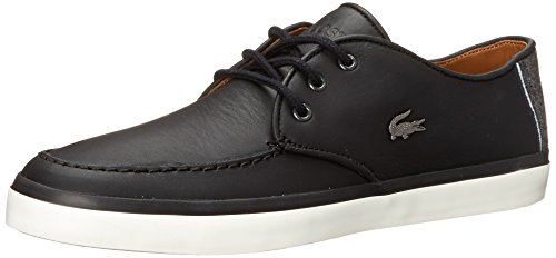 Lacoste Men's Sevrin LCR Fashion Sneaker, Black, 9.5 M US
