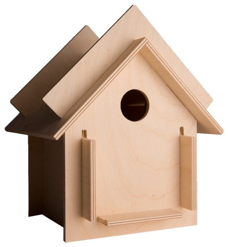 Box for the Birds 9 by 9 by 10-1/2-Inch DIY Birdhouse