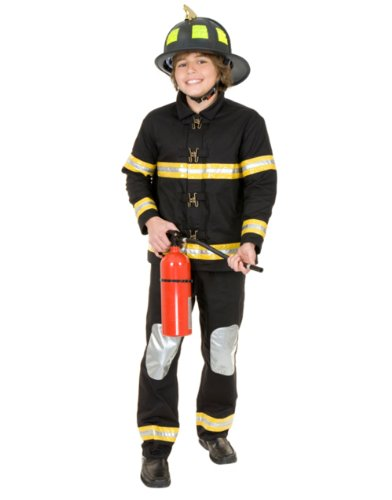 Unknown Boys Cotton Fireman Bunker Gear Costume