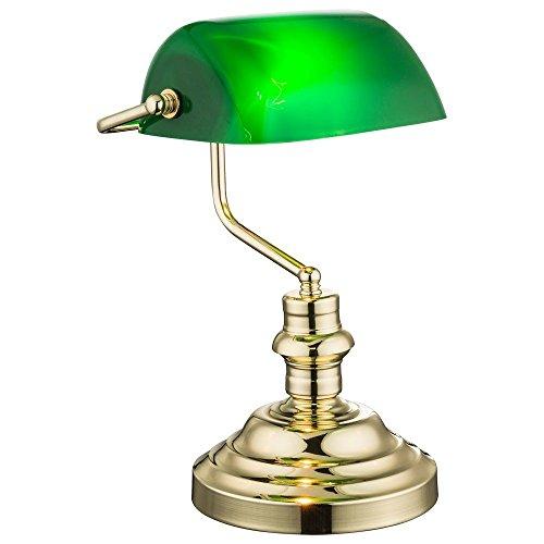 Nostalgie-Antik-Retro-Tisch-Lampe-Banker-Leuchte-Schreibtischlampe-Antique-grn-2491K